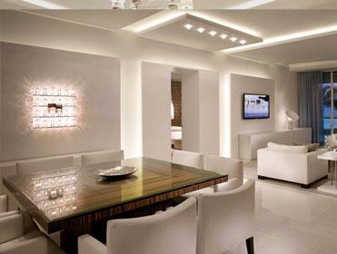 lighting inside apartment